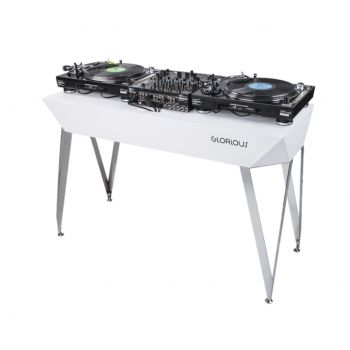 Meuble DJ finition blanc