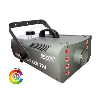 Machine à fumée 1200W + 8 leds 3W 3-en-1 RGB