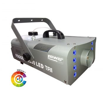 Machine à fumée 1500W + 8 LEDS 3W 3-en-1 RGB