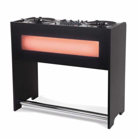 Meuble dj finition noire sogetronic for Finition meuble