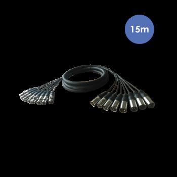 Octopaire XLR Mâle / XLR Femelle 15m