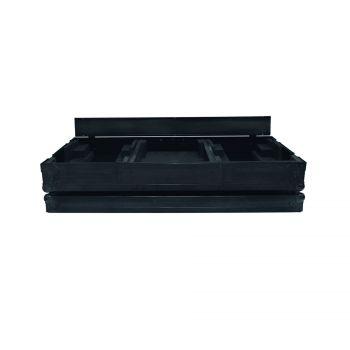 """Flight case pour 2 CDJ 900 / 2000 NEXUS + Mixeur 13"""" couleur noir"""