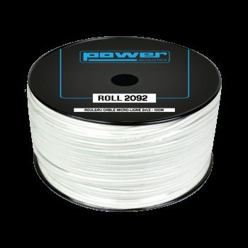 Rouleau Câble micro ligne blanc 2 x 1,5mm² - 100m