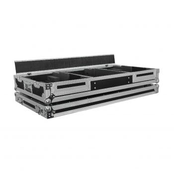 "Flight case en multiplis pour 2 platines CDJ 900 NEXUS ou CDJ 2000 NEXUS + Mixeur 13"""