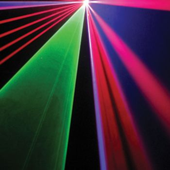 Laser à animations Rouge, Vert, Bleu 500MW DMX ILDA