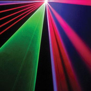 Laser à animations Rouge, Vert, Bleu 2000MW DMX ILDA