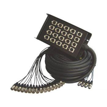 Multipaires / enrouleurs mobile 24-8 Xlr 30m - 4 roulettes