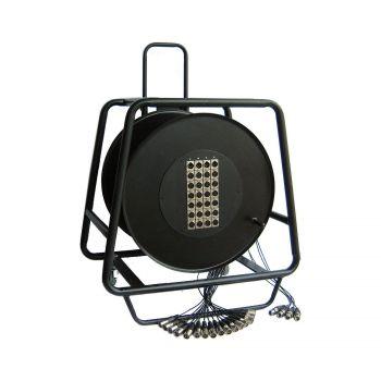 Multipaires / Enrouleurs Mobile 32-8 Xlr 50m - 4 roulettes