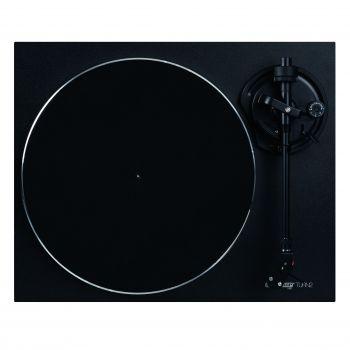 Platine vinyle Hifi noir avec bras de lecture droit
