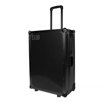 Flight Case Scratch Black Plus Trolley & Wheels