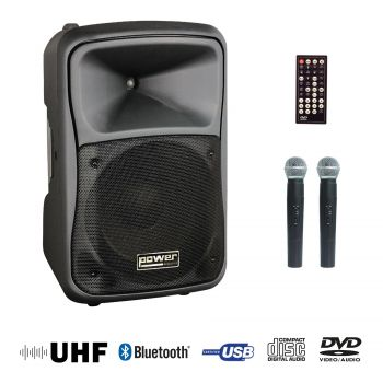 Sono portable CD MP3+USB+DIVX+2 micros main+bluetooth