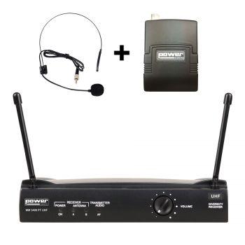 Simple micro serre-tête + émetteur de poche PT UHF – Freq 825 Mhz