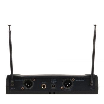 Simple micro main UHF + micro serre-tête + micro-cravate + émetteur de poche PT UHF – Freq 823-826.5 MHZ