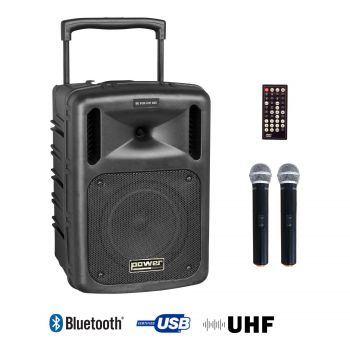 Sono portable CD MP3+USB+Bluetooth+DIVX + 2 Micros main UHF