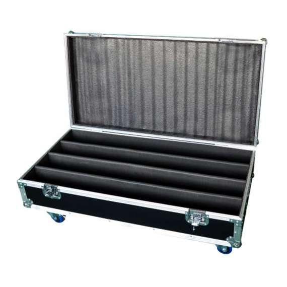 Flight-case pour 4 barres à leds