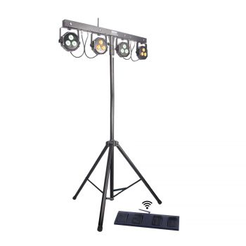 Ensemble 4 par LED + Pied