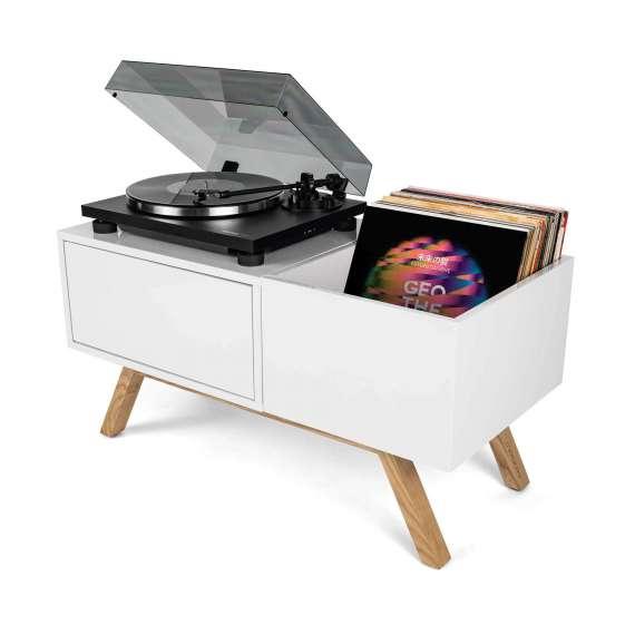 Turntable Lowboard Meuble Retro Pour Vinyles Glorious Dj