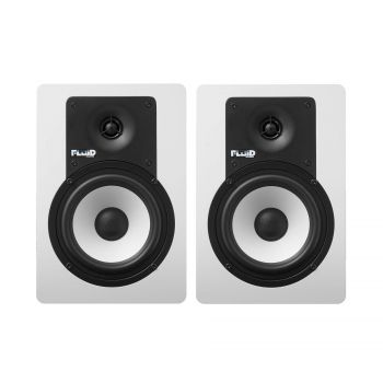 Enceinte monitoring 5 pouces Bluetooth blanche - paire
