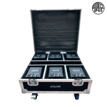 Pack flight case et 6 projecteurs MOVECOLOR IP65