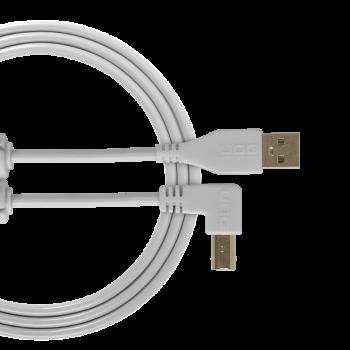 cable udg usb 2.0 a-b white coudé 3m