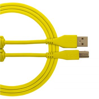 Cable UDG USB 2.0 A-B jaune droit 3m