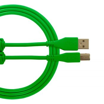 Cable UDG USB 2.0 A-B vert droit 3m