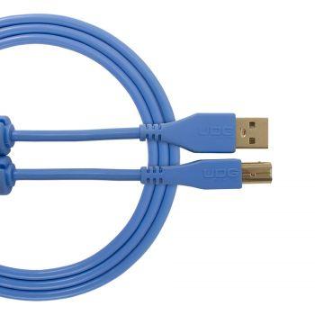Cable UDG USB 2.0 A-B bleu droit 3m