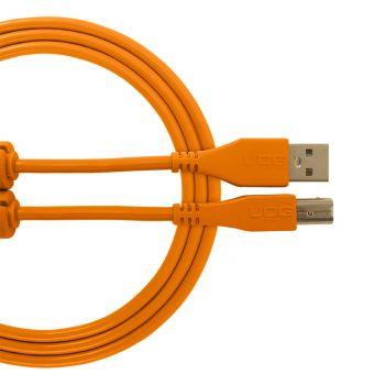 Cable UDG USB 2.0 A-B orange droit 3m