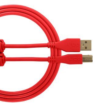 Cable UDG USB 2.0 a-b rouge droit 3m