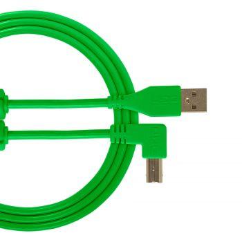 cable udg usb 2.0 a-b vert coudé 1m