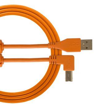 cable udg usb 2.0 a-b orange coudé 1m
