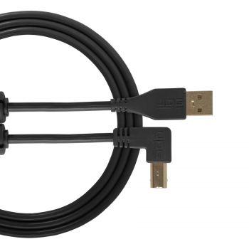 cable udg usb 2.0 a-b noir coudé 3m
