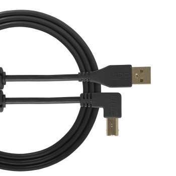 cable udg usb 2.0 a-b noir coudé 1m