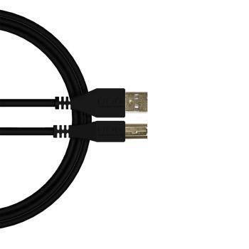 câble udg usb 2.0 a-b noir droit 2m