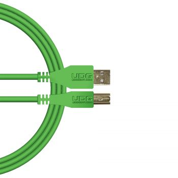 câble udg usb 2.0 a-b vert droit 2m