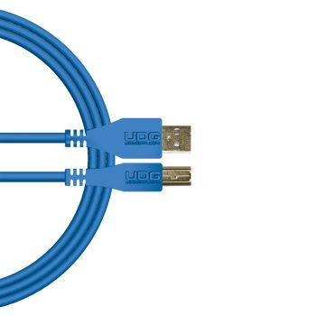 câble udg usb 2.0 a-b bleu droit 2m