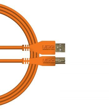 câble udg usb 2.0 a-b orange droit 2m