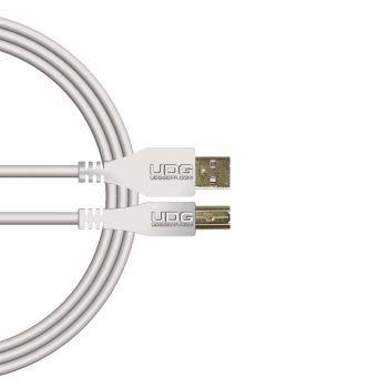 câble udg usb 2.0 a-b blanc droit 2m