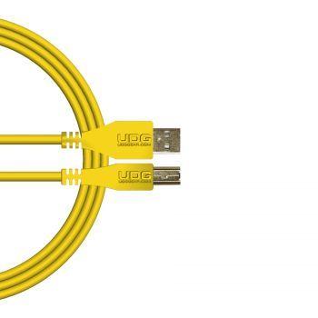 câble udg usb 2.0 a-b jaune droit 2m