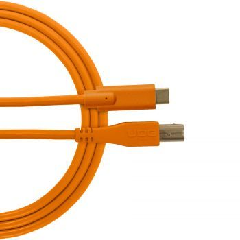 câble udg usb 2.0 c-b orange droit 1.5m