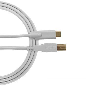 câble udg usb 2.0 c-b blanc droit 1.5m