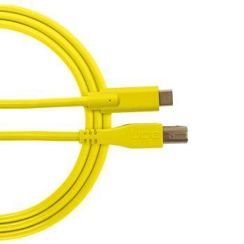 câble udg usb 2.0 c-b jaune droit 1.5m