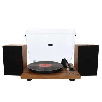 Pack Platine vinyle hifi USB/Bluetooth - finition bois