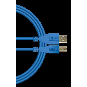 cable udg usb 2.0 a-b rouge droit 1m
