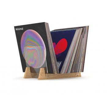 Casier de rangement 330 vinyles finition noir