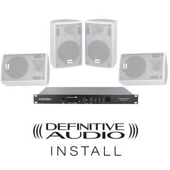 PACK INSTALL 4xNEF WH + 1xMEDIA AMP ONE