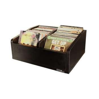 Meuble noir pour vinyles 45 tours