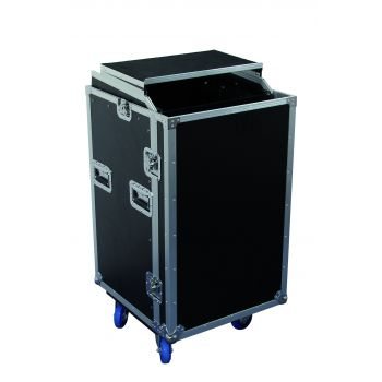 Flight Case 16U + Plan Incliné + Plateau