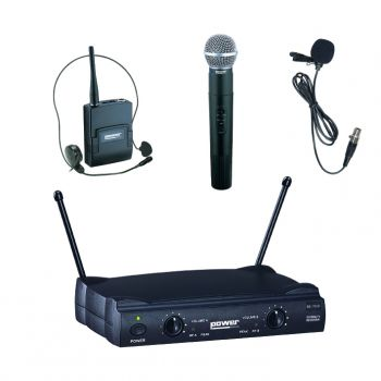 Double Micro Main+Serre Tête+Cravate VHF - Freq 178,5-186,5 Mhz