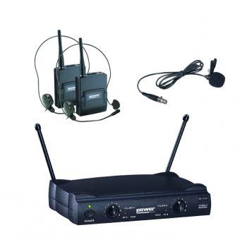Double Micro Serre tette + Cravate VHF fréquence 175.5 - 185.5 MHZ